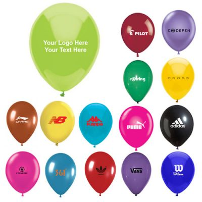 "11"" Custom Printed AdRite Crystal Economy Line Latex Balloons"