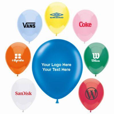 "9"" Custom Printed AdRite Economy Line Latex Balloons"