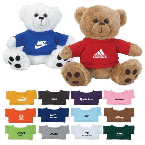 Custom 8.12 Inch Plush Big Paw Bear With Shirts