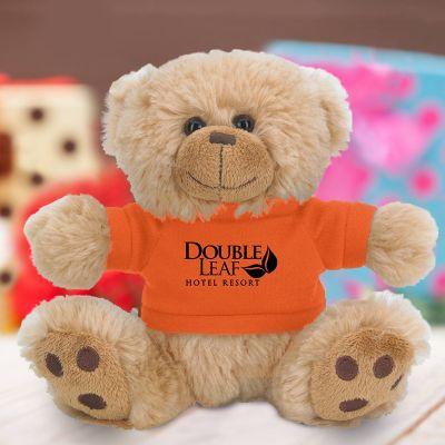 6 Inch Customized Plush Big Paw Bear with Shirts