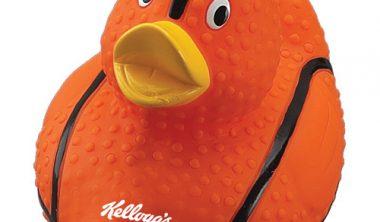 custom printed basketball rubber ducks