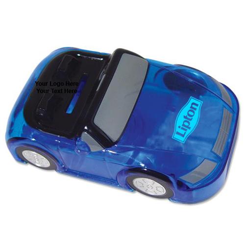 Custom Printed Car Bank Blue