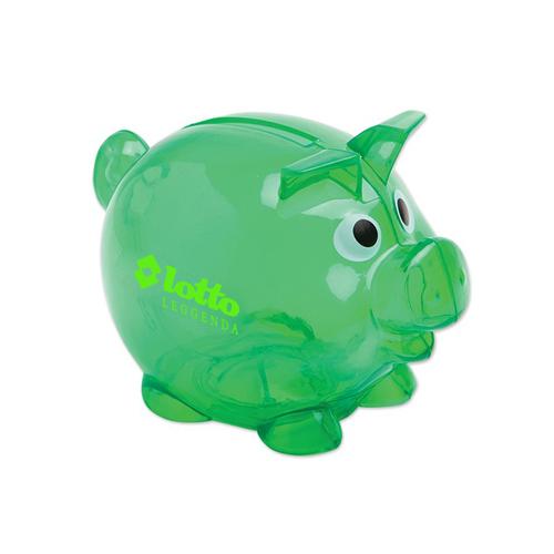 Custom Small Piggy Bank Translucent Green