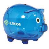Customized Classic Piggy Banks - Translucent Blue