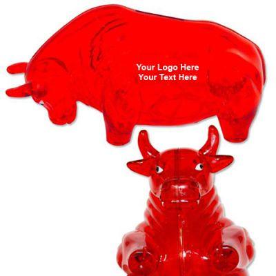 Logo Imprinted Bull Banks - Red