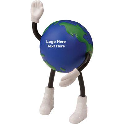 Custom Globe Stick People Stress Relievers