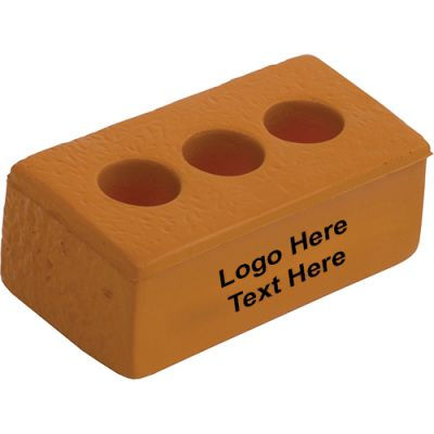 Custom Imprinted Brick Stress Relievers