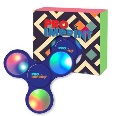 Custom Light-Up LED Fun Spinners With Custom Window Box