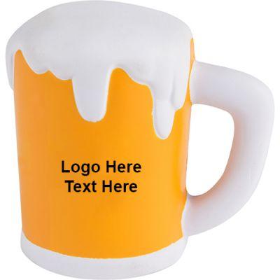 Custom Printed Beer Mug Stress Relievers