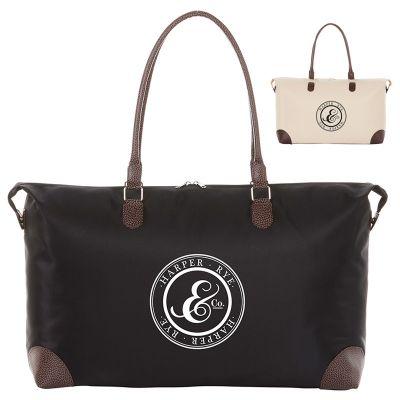 Custom Imprinted Nylon Weekender Tote Bags
