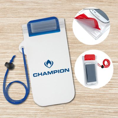 Custom Imprinted Waterproof Phone Pouch with Cord