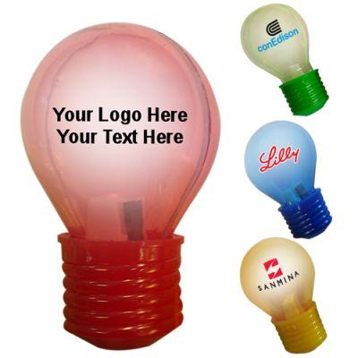 Custom Imprinted Light Bulb Shaped Pencil Sharpeners