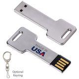 Custom Imprinted 2 GB Silver Key USB 2.0 Flash...