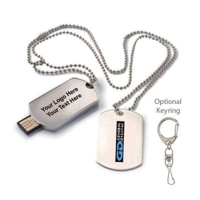 Custom Imprinted 16 GB Dog Tag USB 2.0 Flash Drives