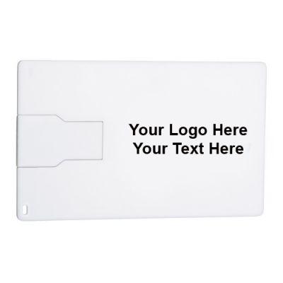 Custom Printed Slim Credit Card Flash Drive 2GB