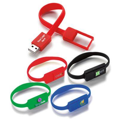 Custom 16 GB Slim Bracelet USB 2.0 Flash Drives