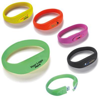 Personalized Bracelet USB 2.0 Flash Drive 4 GB