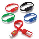 Personalized 8 GB Slim Bracelet USB 2.0 Flash Drives
