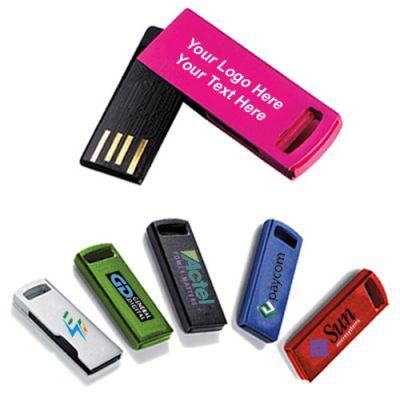Promotional Logo Aluminum USB 2.0 Flash Drives 2 GB