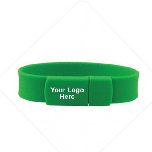 Promotional Logo USB 2.0 Silicone Bracelet Flash Drive