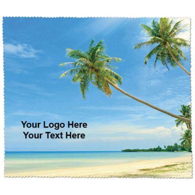 Custom Imprinted Premium Microfiber Cleaning Clothes-Beach