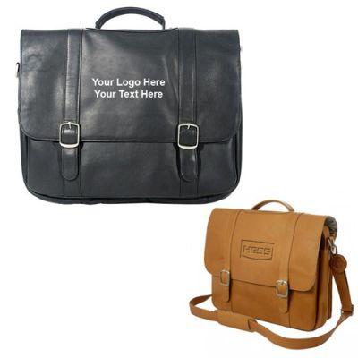 Custom Vaqueta Deluxe Flapover Laptop Briefcases