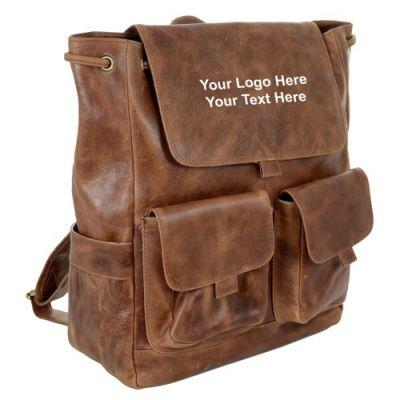 Customized Westbridge Leather Rucksacks