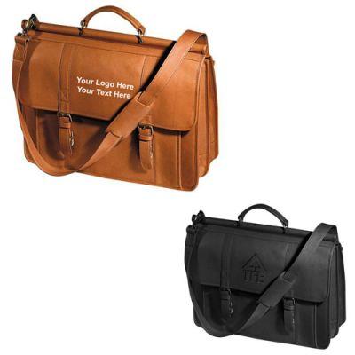 Promotional Logo Vaqueta Dowel Rod Laptop Briefcases