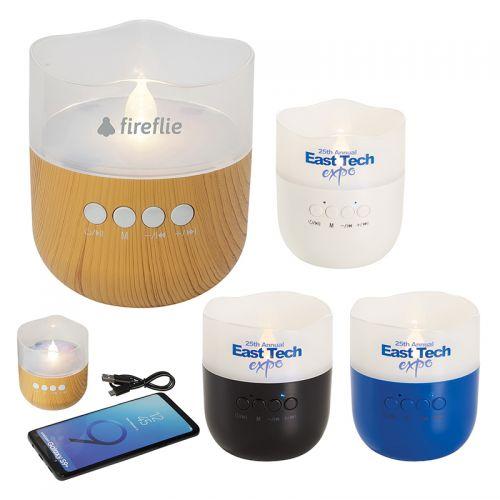 Custom Printed Candle Light Bluetooth Speakers