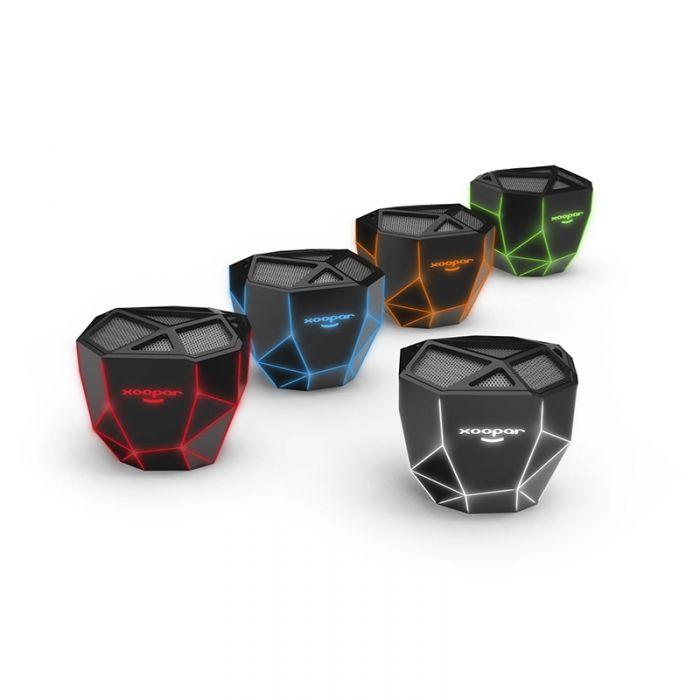 Xoopar Geo Desktop Skeletal Lighted Wireless Speakers