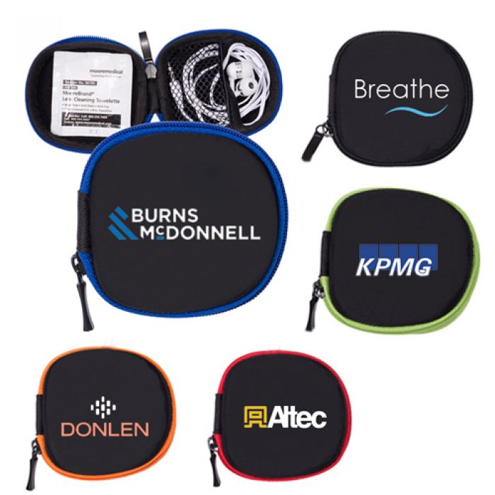Tough Tech Pocket Pouch with Earbuds & Lens Wipe