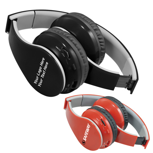 Promotional Logo Rhea Bluetooth Headphones with 2 Colors