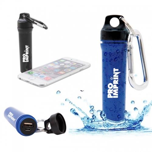 Promotional Logo Water Resistant Power Banks - 2600 mAh
