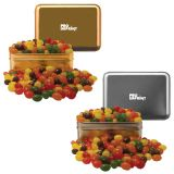 Custom Imprinted Small Rectangle Tin - Jelly Beans