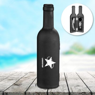 Customized 4 Piece Grigio Wine Bottle Sets