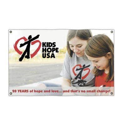 5' x 8' Custom Printed Vinyl Single-Sided Banners