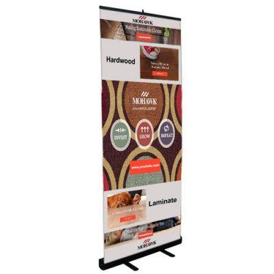 33.5 Inch Custom Printed Slim-line Retractor Banner Kit
