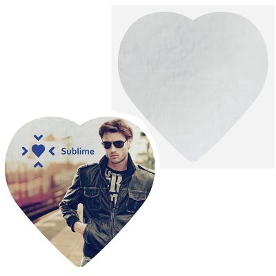 Custom Printed Heart Shaped Coasters