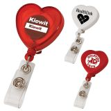 Promotional Heart Shaped Retractable Badge Holders