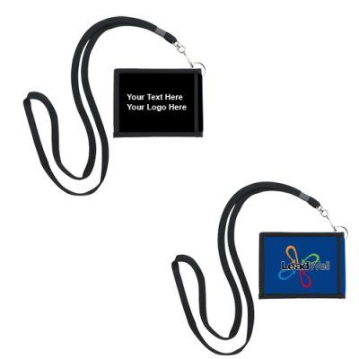 Promotional Logo Good Value Folding Neck Wallets