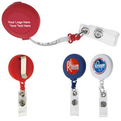 Promotional Logo Tape Measure Badge Holders