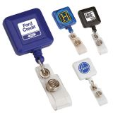Promotional Square Retractable Badge Holders