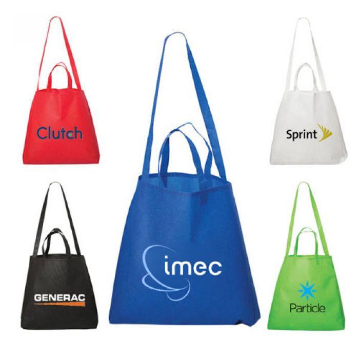 Metrohip Shopper Double Handle Non Woven Tote Bags Imprinted