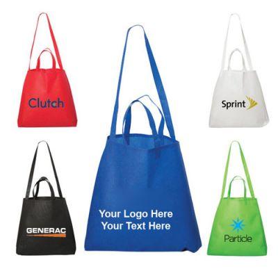 Custom Metrohip Shopper Double Handle Non Woven Tote Bags