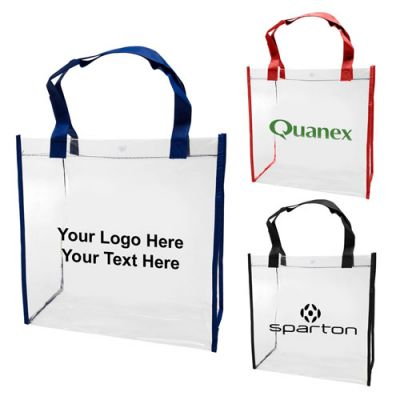 Custom Printed Clear PVC Tote Bags