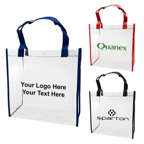 f48c9ef8012 Custom Printed Clear PVC Tote Bags - Vinyl Tote Bags