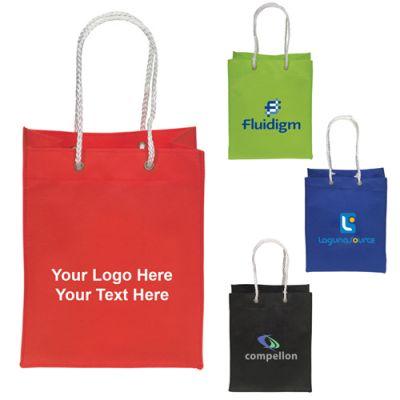 Custom Printed Mini Non Woven Tote / Gift Bags