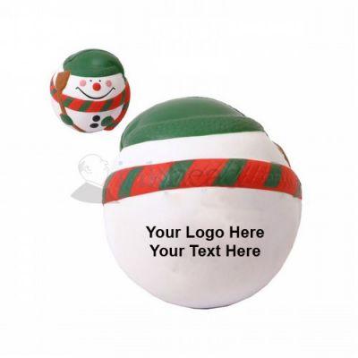 Custom Printed Snowman Stress Balls