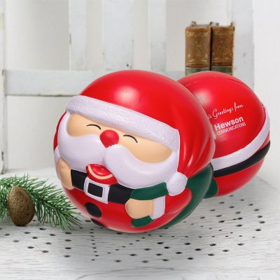 Promotional Santa Claus Shaped Stress Balls