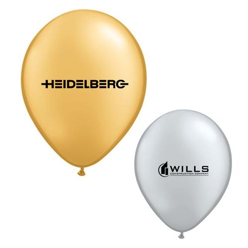 9 inch custom qualatex round metallic color latex balloons